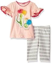 Mud Pie Baby Girls Cactus Tunic and Capri Short Sleeve Two Piece Play Se... - $37.69