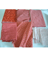 Cotton Fabric Lot Reds Country Print Pieces - $12.95