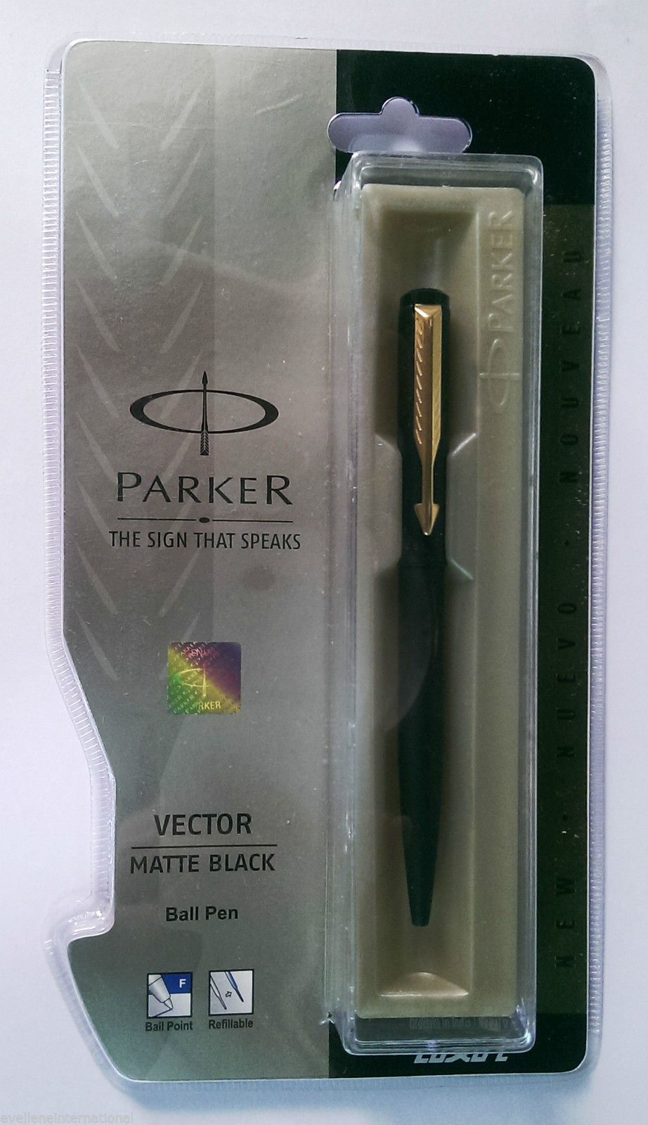 Parker Vector Matte Black Ball Pen Matte Black With Gold Clip