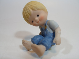 Country Cousins Figurines Enesco Vintage Porcelain sits on something - $9.95