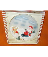 Novelty Inc Resin Santa On Sled Hanging Christmas Plate #61222B UPC:0487... - $9.90