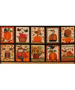 "17.5"" X 44"" Panel Thanksgiving Autumn Fall Give Thanks Fabric Cotton D51... - $6.30"