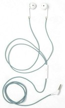 heyday Wired Teal White Braided Cable In-Ear Earbuds Headphones NEW image 2