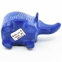 Vaneal Group Hand Crafted Carved Soapstone Blue Elephant Figurine Made Kenya image 5