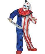Fun World Clown Diabolique Drapeau Américain USA Scary Enfants Halloween Costume - $34.68