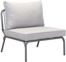 ZUO Pier Patio Lounge Chair with Gray Cushion i... - $512.52