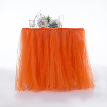 Any Color TABLE TUTU Skirt Rainbow Table Tulle Skirt Tutu Tulle Table Decoration image 7