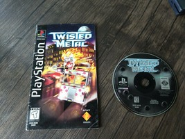 Twisted Metal 1 PS1 Game Disc + Long Box Manual ONLY (No Longbox) - Tested! - $31.74