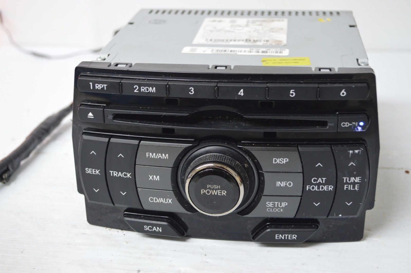 2011 2012 Hyundai Genesis Radio Cd MP3 Player 96180-2M115VM5 TESTED C35#014