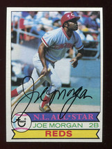 1979 Topps #20 Joe Morgan Signed Autographed Cincinnati Reds HOF *Morgan02* - $17.47