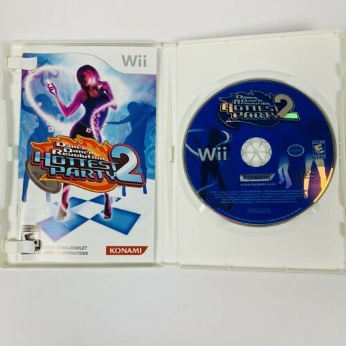 Dance Dance Revolution Hottest Party 2 (Nintendo Wii, 2009) Complete Tested