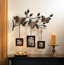 "Butterfly Picture Frame Trio Metal Branch Wall Hanging Decor 23"" SL 10015473 - $26.52"