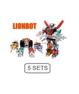 5 SETS *EXPRESS* NEW VOLTRON LIONBOT 1980 Chogokin Die-Cast Metal 5-in-1 TW - $655.48