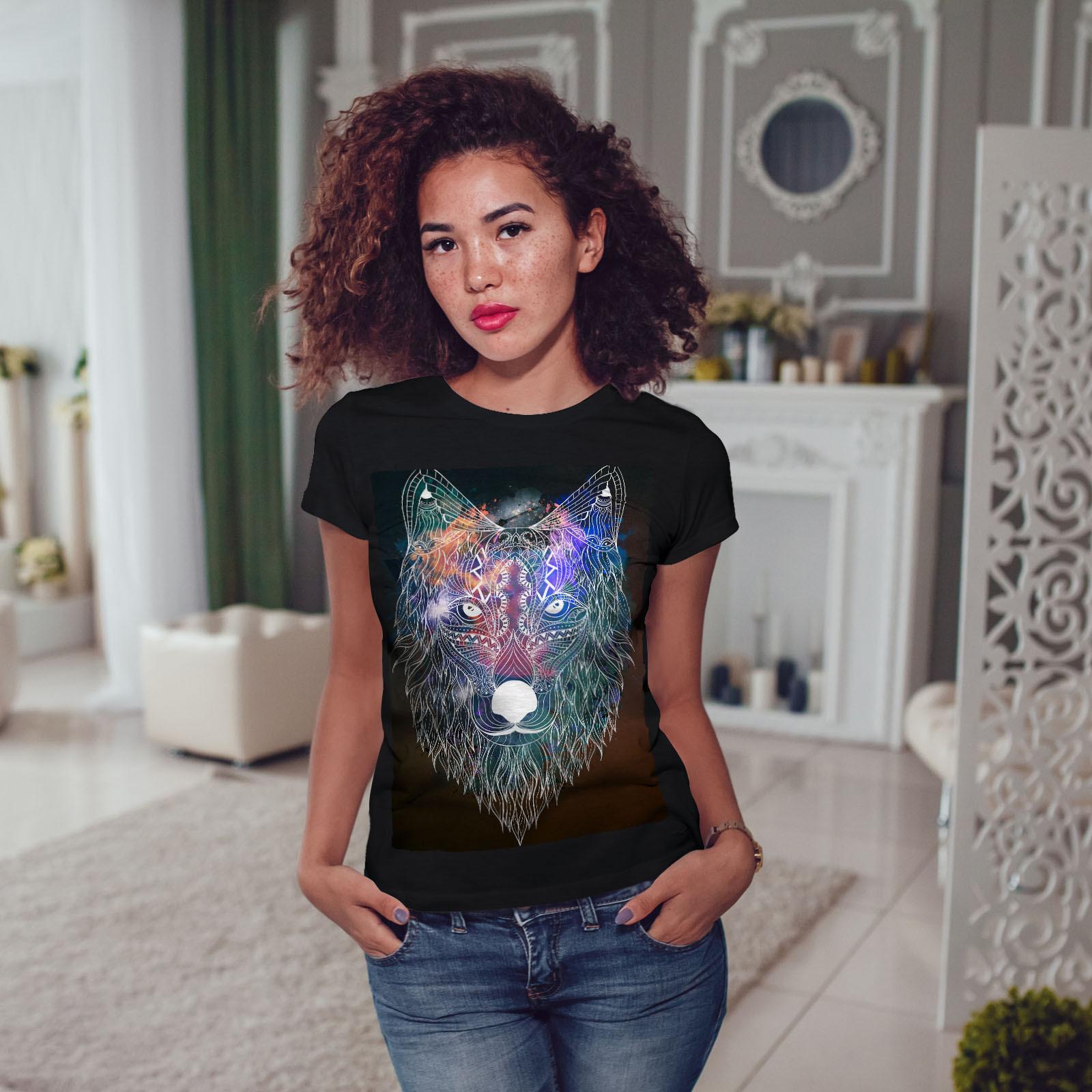 Hipster Wolf Head Women Long Sleeve T-shirt NEWWellcoda