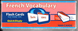 QuickStudy French Vocabulary Flash Cards, new - $12.00