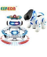 New Smart Space Dance Robot Dog Electronic Walking Toys With Music Light... - £13.41 GBP+