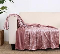 """Berkshire Blanket 50""""x70"""" Crushed Velvet Throw                 @DB5D - $33.92+"""
