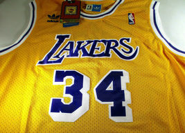 SHAQUILLE O'NEAL / AUTOGRAPHED LOS ANGELES LAKERS YELLOW PRO STYLE JERSEY / COA image 2