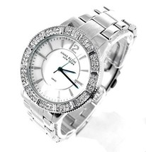 Anne Klein New York Womens Stainless Steel Crystal Silver MOP Watch 12/2... - $98.01