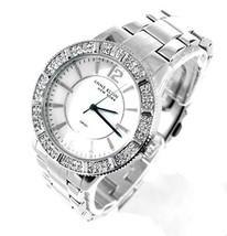 Anne Klein New York Womens Stainless Steel Crystal Silver MOP Watch 12/2245MPSV - $98.01
