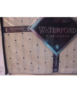 Waterford Fine Linens Vienna Ivory/black Tailored Valance - $29.88