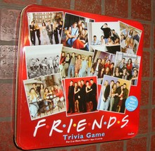 Friends TV Show 2003 Trivia Board Game -Cardinal-Red Tin Container-Complete - $38.00