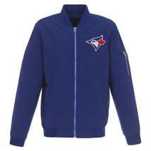 MLB Toronto Blue Jays Lightweight Nylon Bomber Jacket Blue Embroidered Logo - $99.99