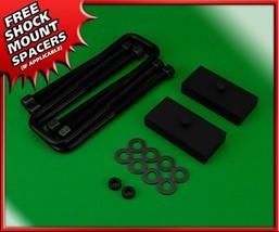 """Rear Lift Kit 1"""" Steel Blocks + U-Bolts Fits 00-10 Chevy 1500 2500 3500 ... - $60.00"""