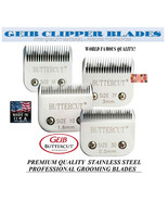 GEIB BUTTERCUT STAINLESS STEEL 4pc BLADE SET FitMost Wahl,Laube,Aesculap... - $208.92