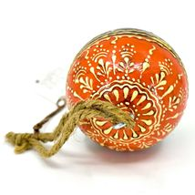 Asha Handicrafts Hand Painted Mango Wood Floral Holiday Christmas Ornament  image 4
