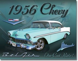 Chevy 1956 BelAir Chevrolet Metal Sign Tin New Vintage Style USA #1607 - $10.29