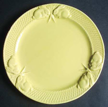 Bordalla Pinheiro Yellow Collectible Rabbit Pattern Salad Plate  Made in... - $10.99