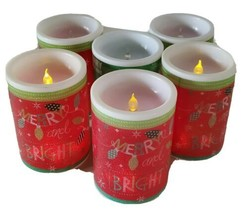 Fake Faux Christmas LED Candles Set Of 6 Uses CR2032 Battery Holiday Decor - $19.59