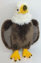 "BALD EAGLE Brown White Yellow Stuffed Plush Bird 16.5"" Animal Toys R Us ... - $24.49"