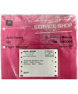 VTG John Deere 321 Flight Elevator Operators Manual Dealer Copy 70's Agr... - $17.90
