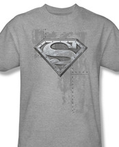 Rman dc comics logo gun metal tee superhero for sale heather gray online graphic tshirt thumb200
