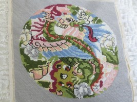 """COMPLETED Sasi Creations DRAGON PLATE NEEDLEPOINT #2297-3  - 11"""" x 11"""" D... - £28.28 GBP"""
