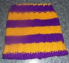 Brand New Hand Knit Purple and Gold Dog Snood Neck Warmer For Dog Rescue... - $12.74