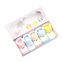 Cute Bears Looped Fabric Simple Design Anti-slip Socks Gift Sets