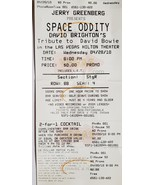 Space Oddity David Brighton Tribute to David Bowie Hilton Hotel 2010 Tic... - $3.95