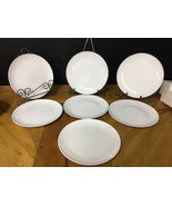 """Lot 7 Centura White Coupe Salad Plates 8-5/8"""" Vintage Corning Luncheon S... - $28.04"""