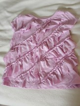 """Gymboree """"Picture Day""""Girls Pink Ruffle Top Tee Size 18-24 EUC - $8.50"""