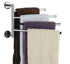 Bekith 16 inch Wall-Mounted Stainless Steel Swivel Bars Bathroom Towel R... - $23.69
