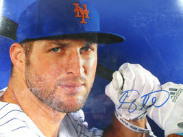TIM TEBOW / AUTOGRAPHED 11 X 14 NEW YORK METS TRAINING CAMP COLOR PHOTO / COA image 2