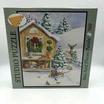 Bits and Pieces Studio Puzzle 500 Pieces Kathy Goff Deer Wreath NIB - $19.98