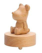 Cute Bear Wooden Mechanical Classical Collectible Music Box for Children - £44.38 GBP
