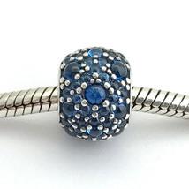 Authentisch Pandora Schimmernde Tröpfchen, London Blau Kristall Charm, 7... - $65.82