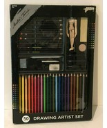 Drawing Artist Set Masters Touch Sketch Colored Pencils Erasers Manikin ... - $19.99