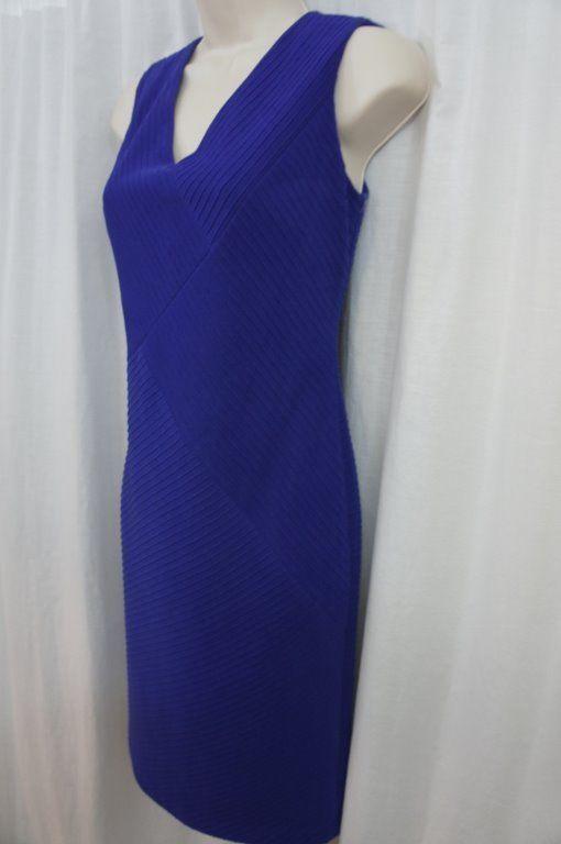Anne Klein Dress Sz 6 Ultra Violet Purple Sleeveless Business Cocktail Party