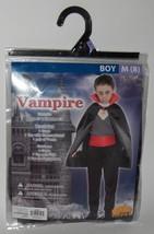 NEW Vampire Boys Childrens Costume Size Medium 8 Halloween Dress-Up Cape... - $15.43